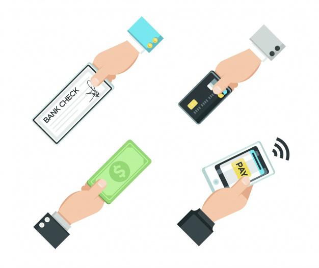 Pagamentos com cartão, cheque ou dinheiro?